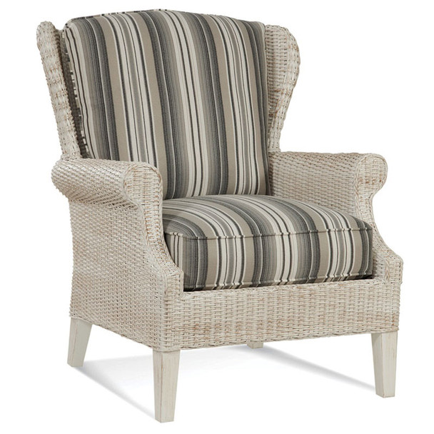 Havana Wing Chair in fabric '213-81 C' and Antique Frost finish