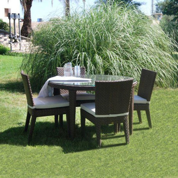 Atlantis Outdoor 5 piece Round Dining Set with 4 side chairs