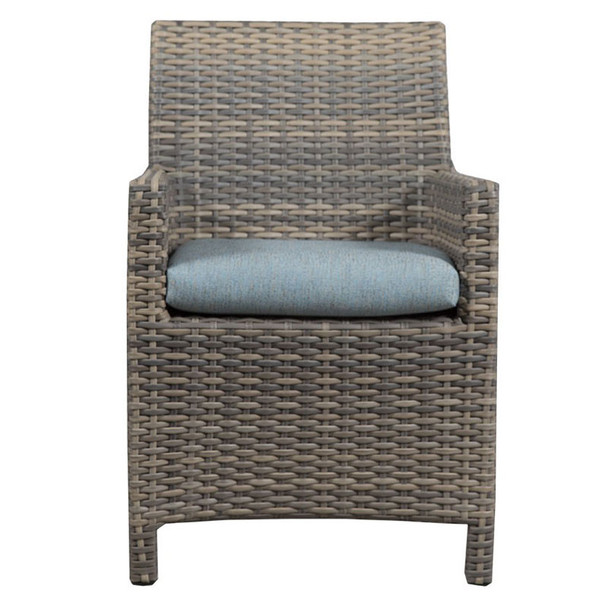 Mambo Outdoor Arm Chair - Adena Azure Fabric - front