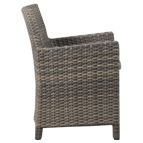 Mambo Outdoor Arm Chair - Adena Azure Fabric - side