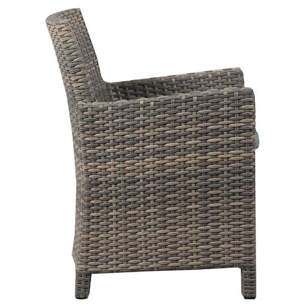 Mambo Outdoor Arm Chair - Adena Azure Fabric - side