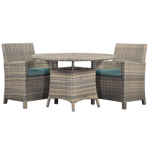 Mambo Outdoor 3 piece Dining Set with Arm Chairs