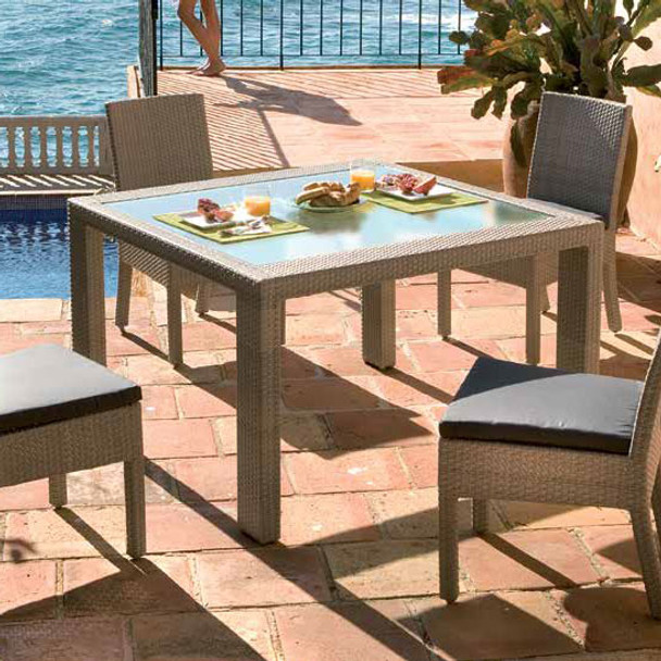 Cubix Outdoor 5 piece Side Chair Dining Set