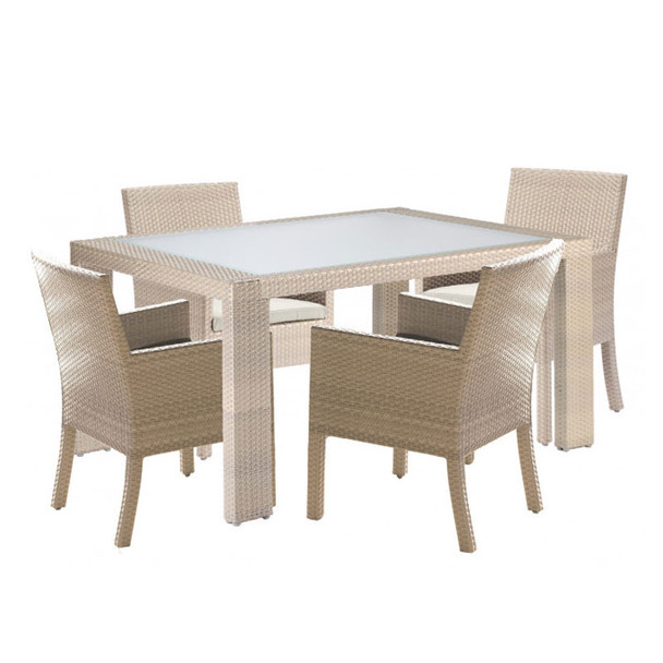 Cubix Outdoor 5 piece ArmChair Dining Set