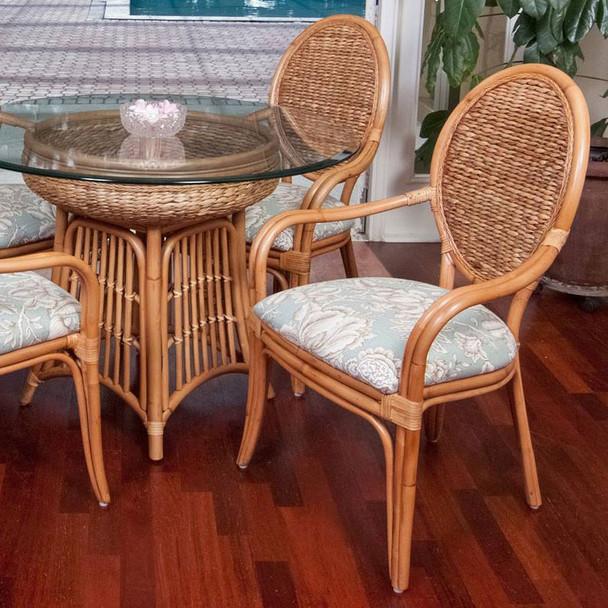Havana Dining Arm Chair in Antique Honey finish