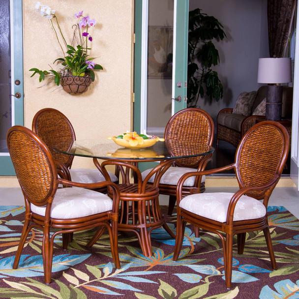 Havana Dining Set in Sienna finish