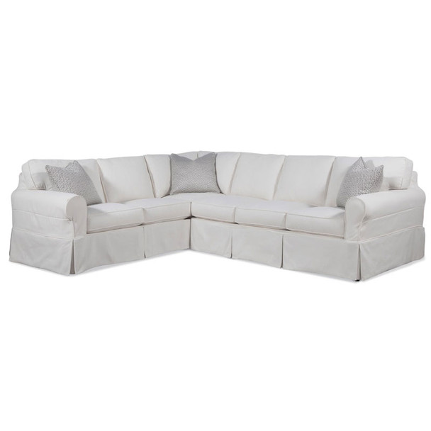 Bedford RSF Two-Piece Corner Sectional Set in Slipcover fabric 0314-93 B