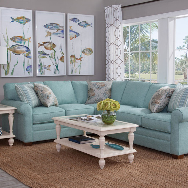 Bedford RSF Two-Piece Corner Sectional Set  in Havana finish