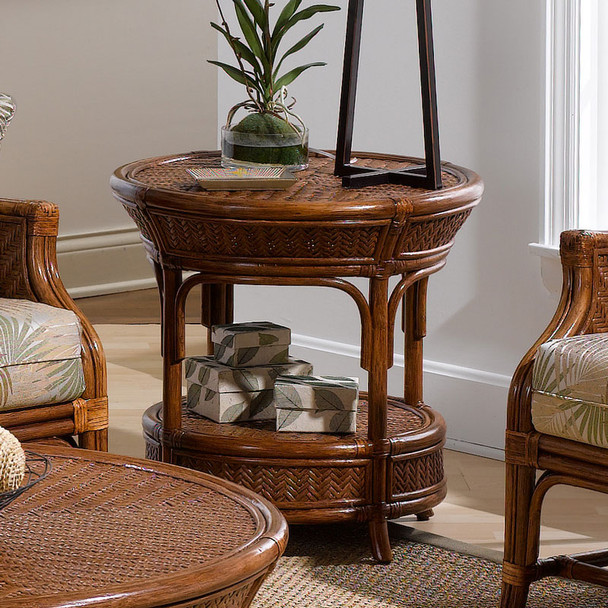 Edgewater CR End Table with Glass Top