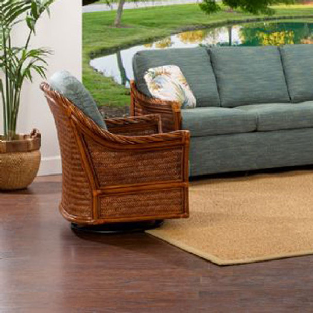 South Shore Swivel Glider from Classic Rattan