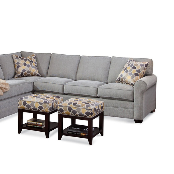 Bedford RSF 1-Arm Sofa  in fabric 358-88 A and Java finish