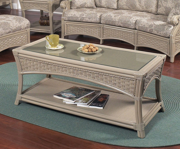 Riviera Cofee Table with Glass Top