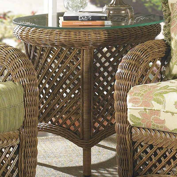 Summer Nites End Table with Glass Top