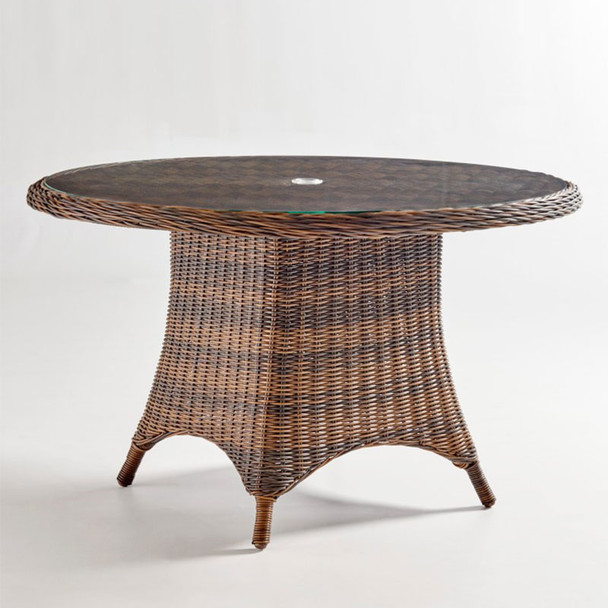 Barrington Outdoor Chat Table in Chestnut finish