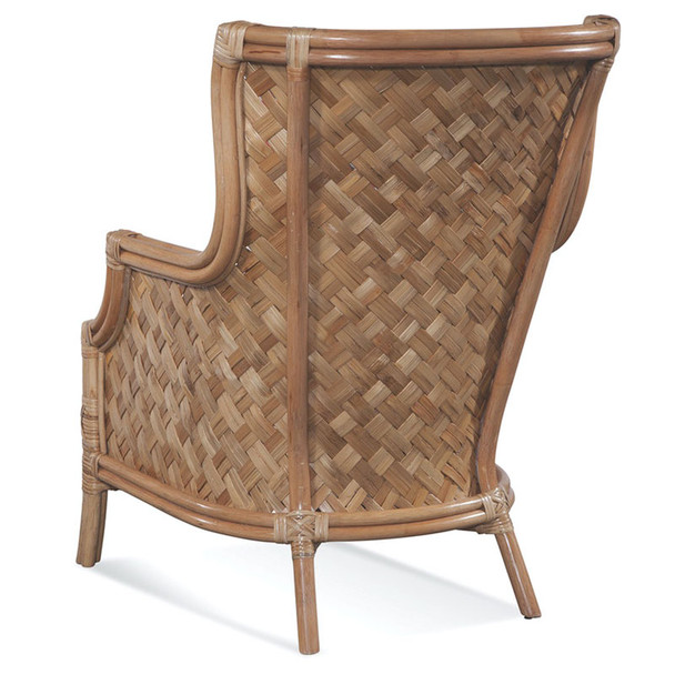 Abella Wicker Wing Chair in Natural finish, back