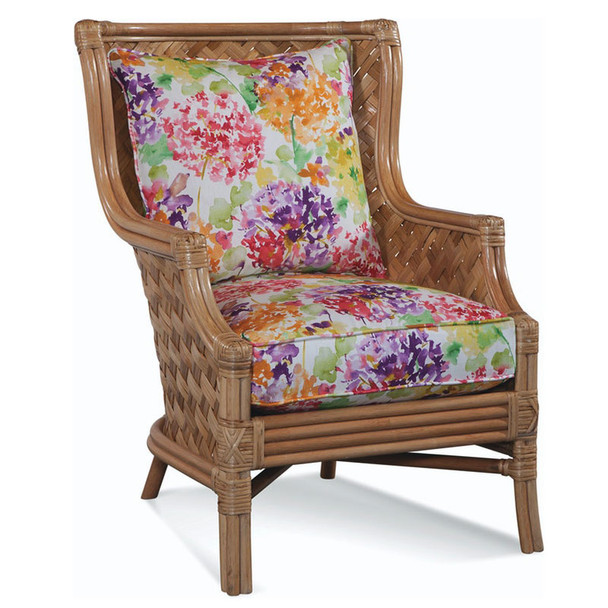 Abella Wicker Wing Chair in Natural finish