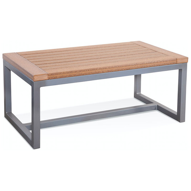 Alghero Outdoor Coffee Table with Antique Mahogany top