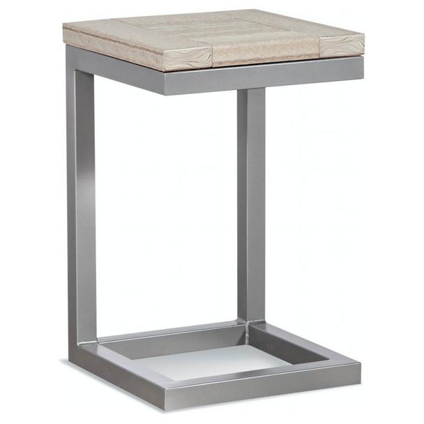 Alghero Outdoor Side Table with Antique Birch top