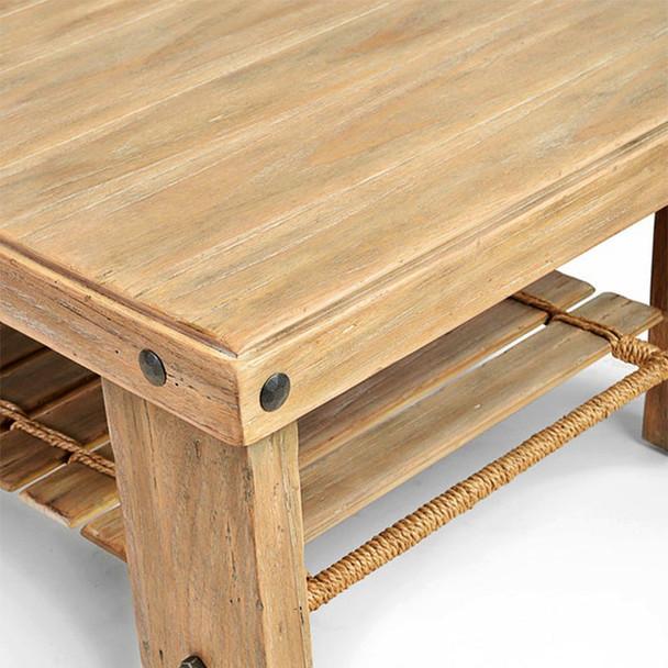 Artisan Landing Coffee Table in Sun Weathered finish