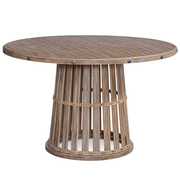 Artisan Landing Round Dining Table in Sun Weathered finish