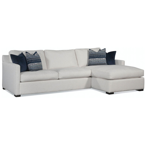 Bel-Air 2-Piece Sectional Set in fabric '0851-94 A' and Java finish