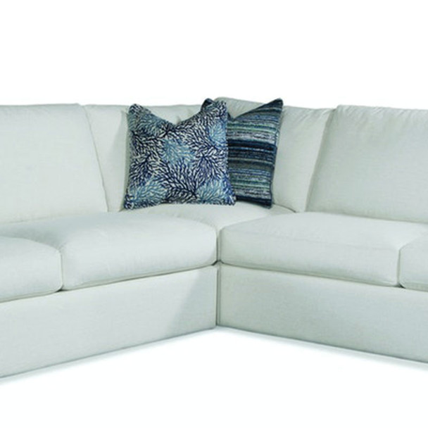 Bel-Air Corner Chair in fabric '0851-94 A' and Java finish