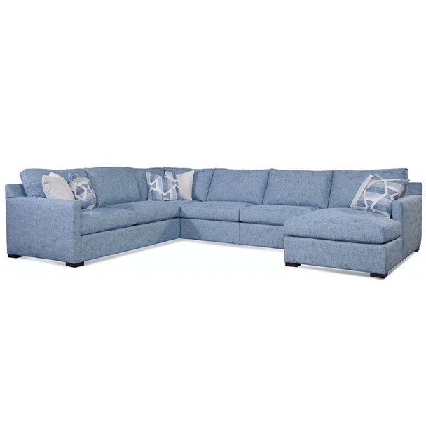 Bel-Air 5-Piece Sectional Set in Java finish