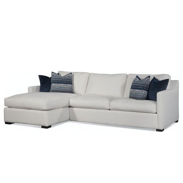 Bel-Air RSF 2-Piece Sectional Set in fabric '0851-94 A' and Java finish