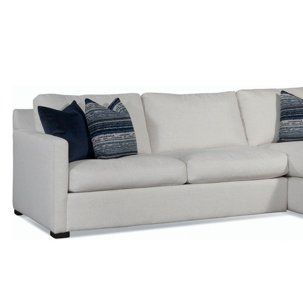 Bel-Air 2 over 2 LSF 1-Arm Sofa in fabric '0851-94 A' and Java finish