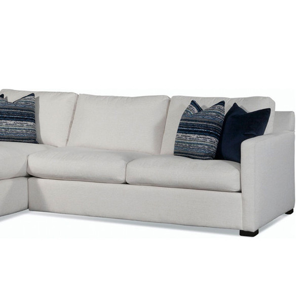 Bel-Air 2 over 2 RSF 1-Arm Sofa in fabric '0851-94 A' and Java finish