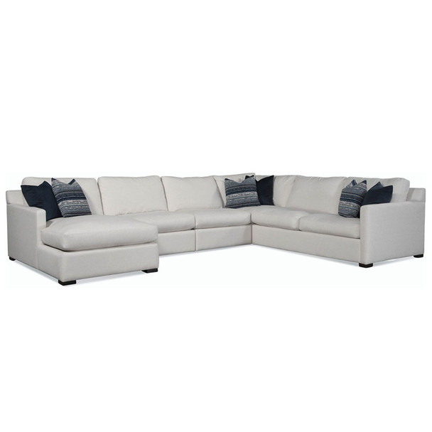 Bel-Air LSF 2-Piece Sectional Set in fabric '0851-94 A' and Java finish