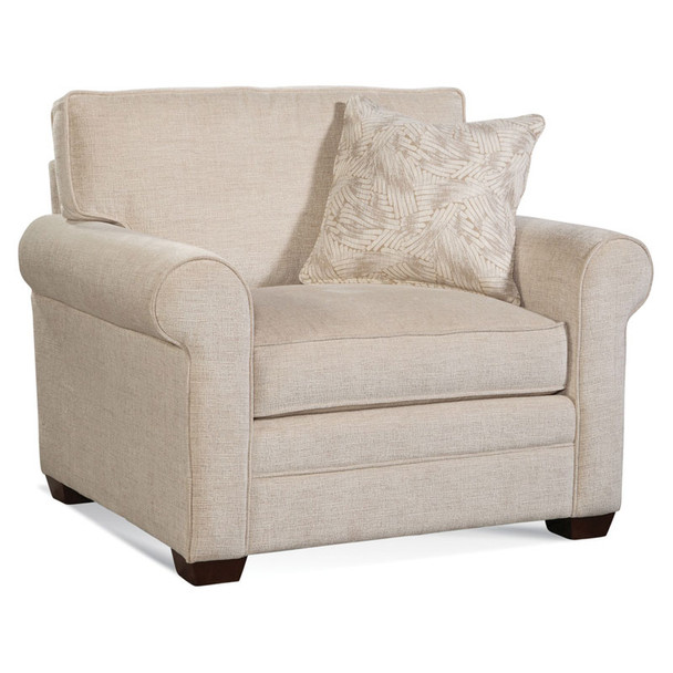 Bedford Lounge Chair  in fabric '0850-93 B' and Java finish