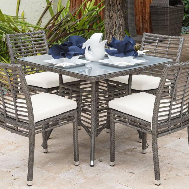 Graphite Outdoor Square Dining Set