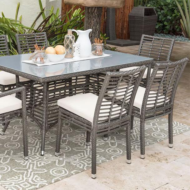Graphite Outdoor Rectangular Dining Set