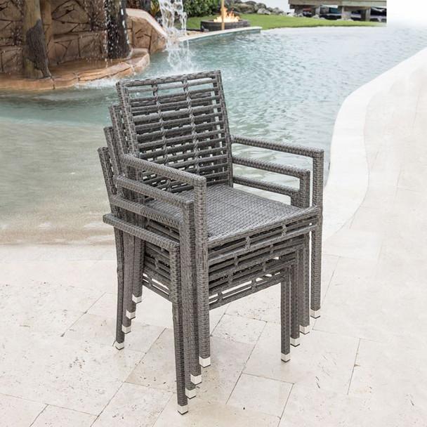 Graphite Outdoor Stackable Armchairs