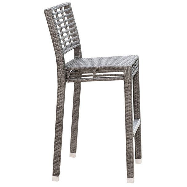 Graphite Outdoor Stackable Barstool