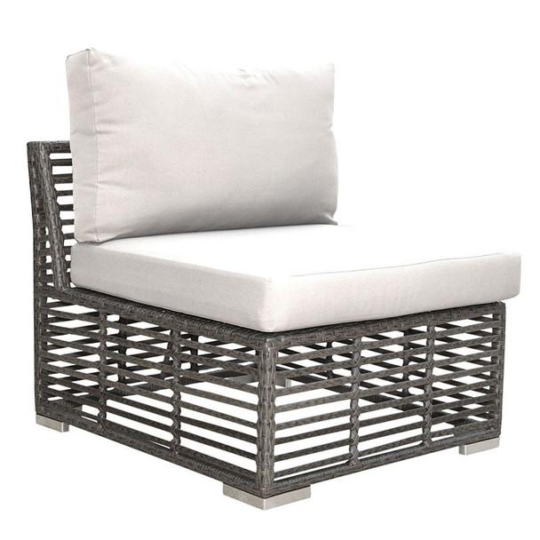 Graphite Outdoor Modular Armless Chair