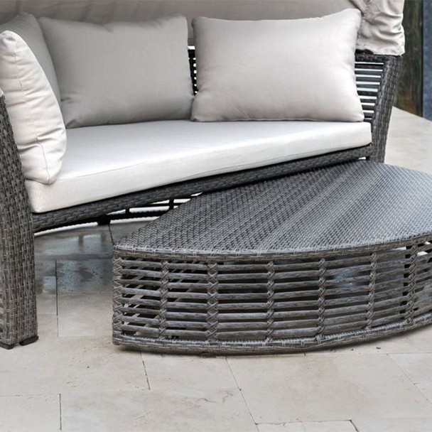 Close up of Graphite Outdoor Canopy Daybed