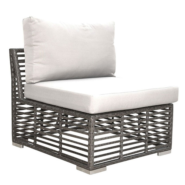 Graphite Outdoor Armless Chair