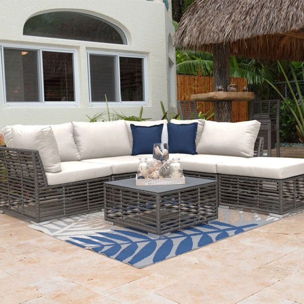 Graphite Outdoor 6 piece Sectional Set