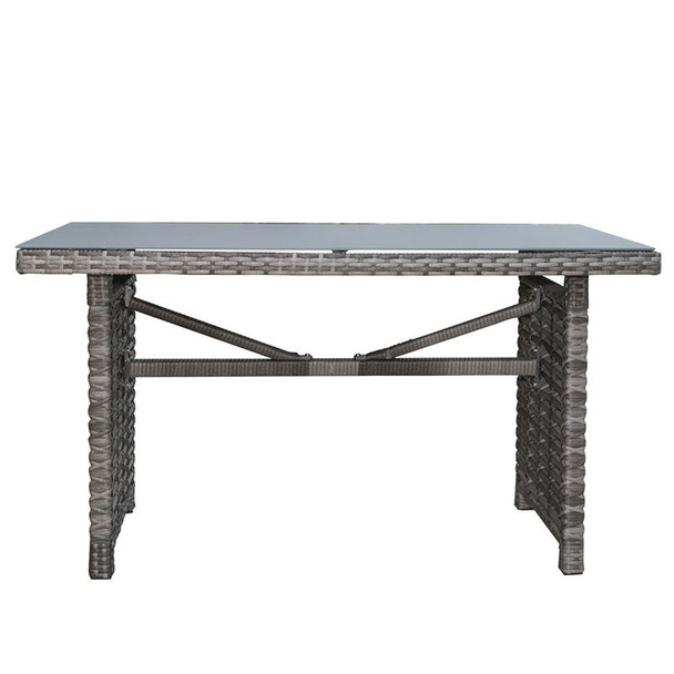 Graphite Outdoor Rectangular High Coffee Table