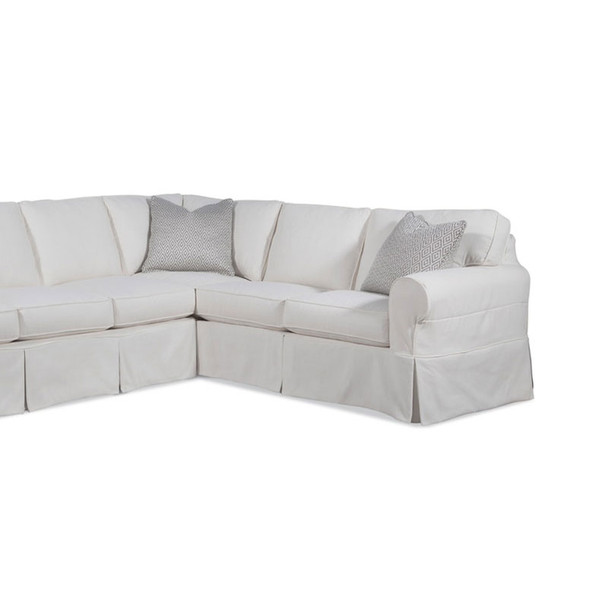 Bedford RSF Corner Sofa with Slipcover in slipcover fabric 314-93 B and pillow fabric 486-84