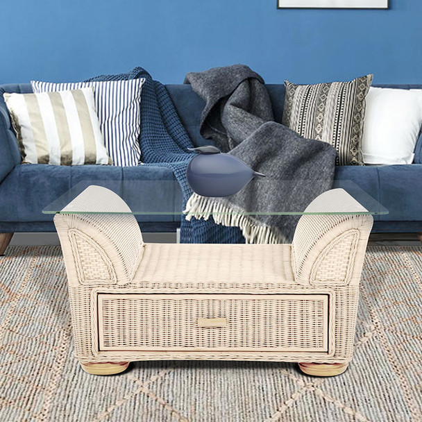 Majorca Coffee Table with storage in Washed Linen finish
