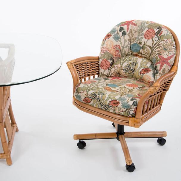 Bridgeport Tilt Swivel Caster Chair in Antique Honey finish
