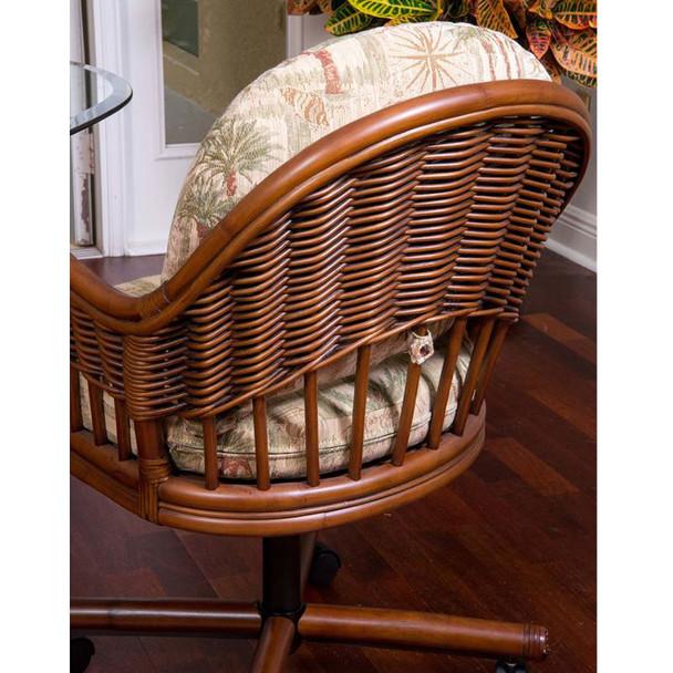 Bridgeport Tilt Swivel Caster Chair in Sienna finish