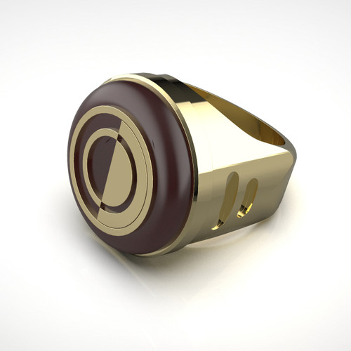 Crimson Dawn Signet Ring