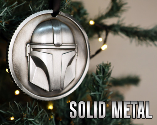Solid metal Mandalorian decoration