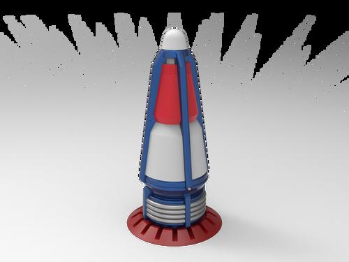 Digital Render of the Rocket Topper