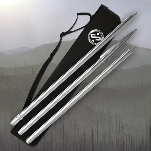Beskar Spear, made from 6061-T4 Aluminium with custom Transport case