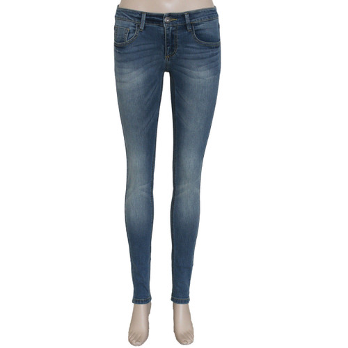 Skinny Jeans for Women Blue Mid Rise